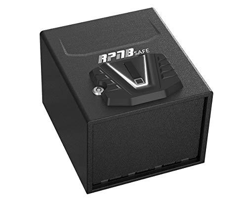 RPNB Gun Security Safe, Quick-Access Firearm Safety Device with Biometric Fingerprint & Digital Key Pad