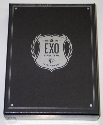 Pledis Entertainment EXO - EXO's First Box DVD 4DVD+Earphone Winder+Double Side Extra Photocards Set