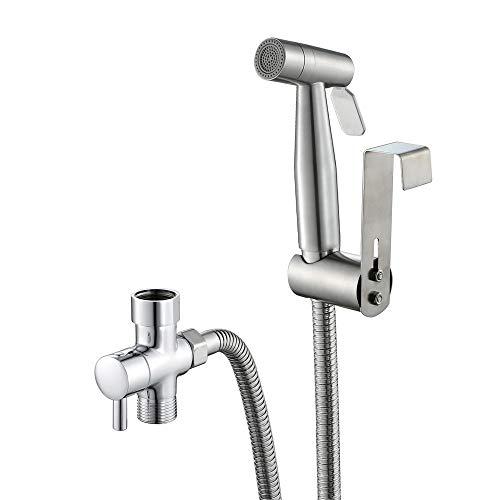 BaoYPP Bidet Grifería WC bidé Handheld Aerosol, pulverizador pañal de Tela de Acero Inoxidable de higiene Personal para la higiene Personal (Color : Silver, Size : One Size)