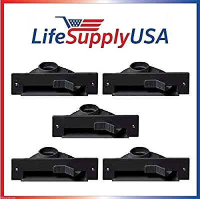 LifeSupplyUSA 5 New Central VAC PAN Vacuum Automatic Dustpan SWEEP INLET VALVES in BLACK by