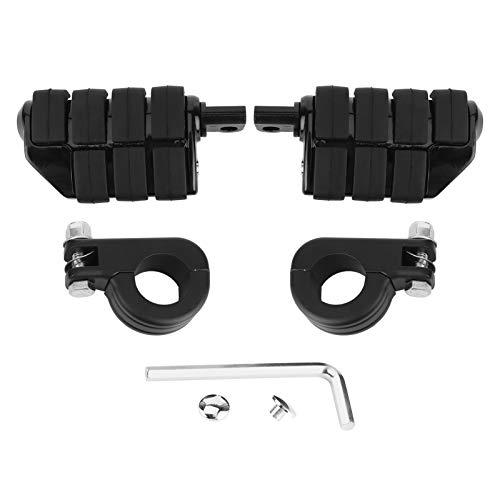 Par de reposapiés con clavijas de 1,25 pulgadas con soportes de montaje universales para ATV Scooter UTV