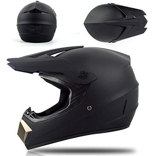 Casco unisex de motocross profesional con gafas, guantes y máscara para niños...