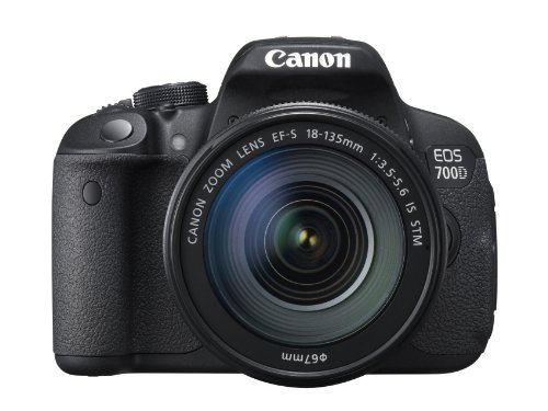 Canon EOS 700D + EF-S 18-135mm SLR-Kamera-Set 18MP CMOS 5184 x 3456Pixel Schwarz - Digitalkameras (18 MP, 5184 x 3456 Pixel, CMOS, Full HD, Touchscreen, Schwarz)