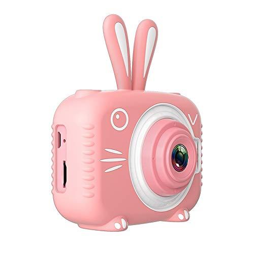 Cámara Infantil Impermeable 1080p HD Cámara de Pantalla HD Video Toy 8 Millones Pixel Niños Dibujos Animados Cámara Linda Fotografía Al Aire Libre (Bundle : 16G, Color : Pink)