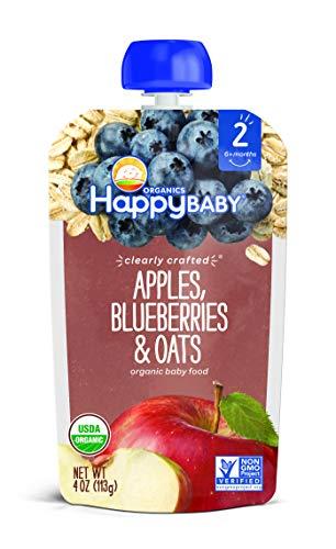 Happy Baby, Organic Apples Blueberries & Oats, 4 oz