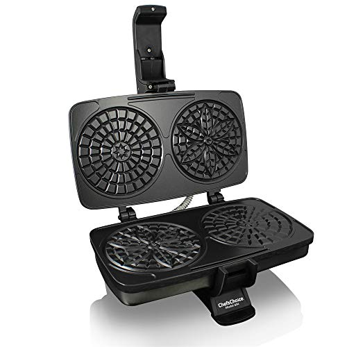 Chef'sChoice 834 PizzellePro Toscano Nonstick Pizzelle Maker Features Baking Indicator Light...