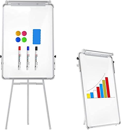 Caballete Whiteboard Magnetic Seco Borre Soporte Tablero Altura Ajustable Trípode Pizarra 90 x 60cm para Oficina Hogar y Aula (Negro) (Color : Blanc)