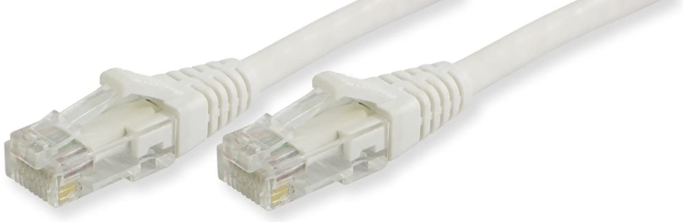 Lynn Electronics OLG10AWHW-055 Optilink CAT5E Made in the USA Snagless Ethernet Cable, 55-Feet, White ttq6698338