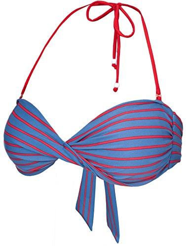 Trespass Overboard - Parte de Arriba de Bikini para Mujer, Color Azul, Talla S