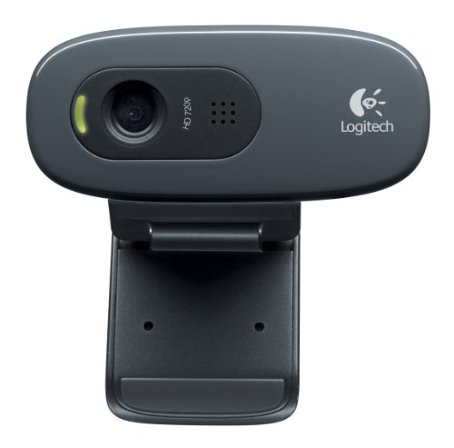 Logitech C270 Webcam HD, 720p/30fps, Video-Llamadaso HD Amplio Campo Visual, Corrección de Iluminación, Micrófono Reductor de Ruido, PC/Mac/Portátil/Macbook/Tablet