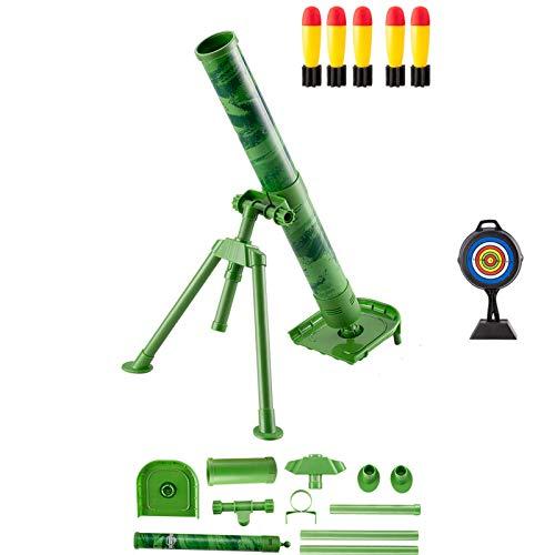 子供の迫撃砲のおもちゃ、大砲の少年ミサイルランチャーの手榴弾を追いかけるロケットランチャー、衝撃波フ...