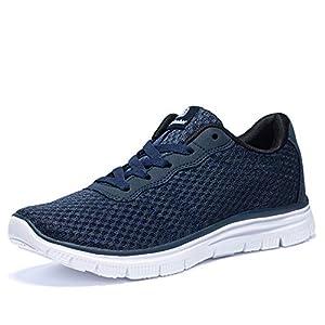 [Newdenber] NDB 軽量 スニーカー 歩きやすい 24.5~30.0センチ メンズ 靴 ウォーキングシューズ 厚底 蒸れない 滑り止め(25.0cm,ブルー)
