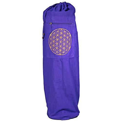 Zen et Ethnique Sac à bretelle pour tapis de yoga Fleur de Vie