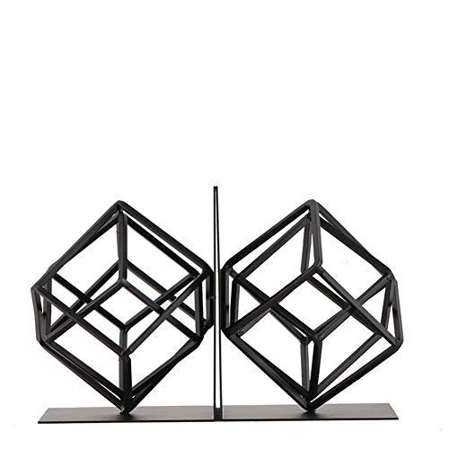 XLL Art Buchstützen, Buchstützen, Dekoration, 1 Paar [Geometrie] [Eisen] zum Basteln [Studier] Buchstützen schwarz [Dekoration] - A 14 x 16 x 18 cm (6 x 6 x 7 Zoll), a, 14x16x18cm(6x6x7inch)