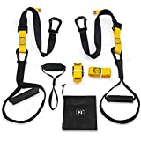 Fiveshow Bodyweight Resistance Trainer[with Training Posters],Home Suspension Trainer Kit 2020 Updated Home Workout System Equipment for Building Muscle,Burn Fat Outdoors/Indoors
