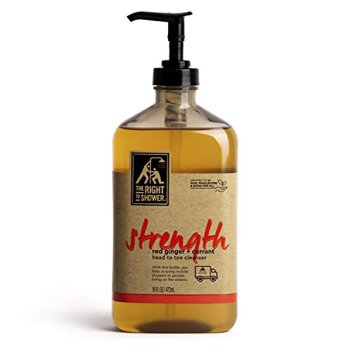 The Right To Shower Strength Body Wash Red Ginger and Currant Vegan 16 oz