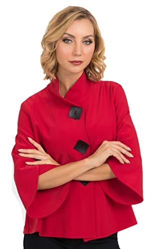 Joseph Ribkoff Lipstick Red Jacket Style - 193198 Fall 2019 Collection (12)