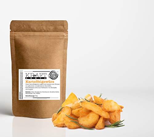 Kraft-Ernte Kartoffelgewürz 50g I Gewürzmischung I Kartoffeln I Fritten I Bratkartoffeln I Würzig Pommesgewürz, Pommes Frites, Gewürzsalz (50g)