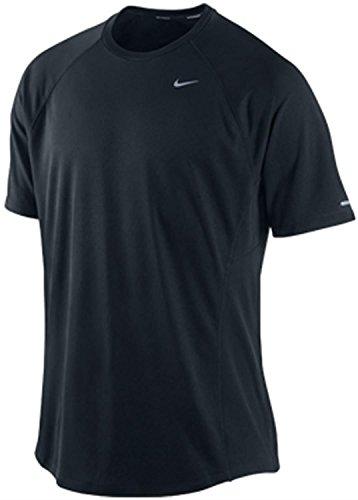NIKE - Camiseta de running para hombre negro Talla:S
