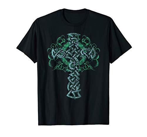 Celtic Cross Shirt - Distressed Pagan T-Shirt - Artistic Tee