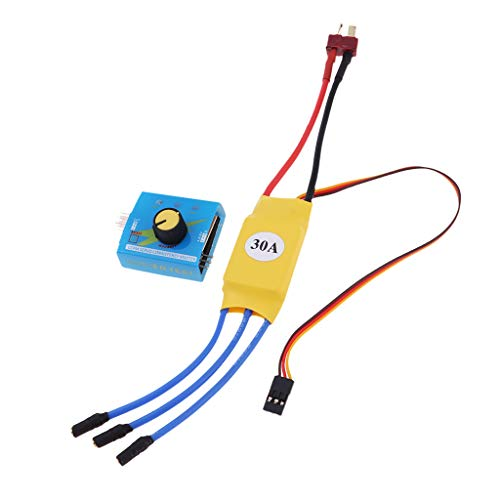 Hellery XXD 30A RC Brushless ESC + Servo Tester para RC Multicopter Quadcopter Frame
