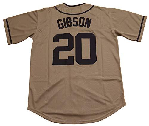 Kooy Gibson #20 Grays Negro National League Baseball Jersey (Gray, 2XL)