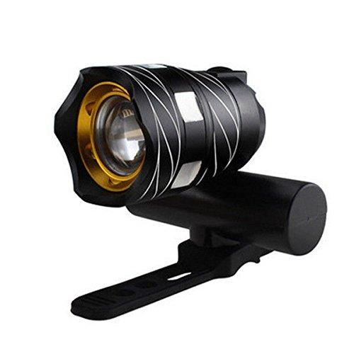 GUORZOM Luce per Mountain Bike 15000LM T6 LED Luce per Fanale Posteriore USB Luce per Bicicletta Regolabile 3000Mah Batteria Ricaricabile Zoomable Faro per Bici Anteriore