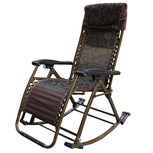 LAXF-Stühle Klappbarer Schaukelstuhl, Patio Schaukelstuhl Schwerelosigkeitsstuhl Klappliege im Freien Klappbarer Loungesessel Außenpoolstuhl für Patio, Pool und Camping