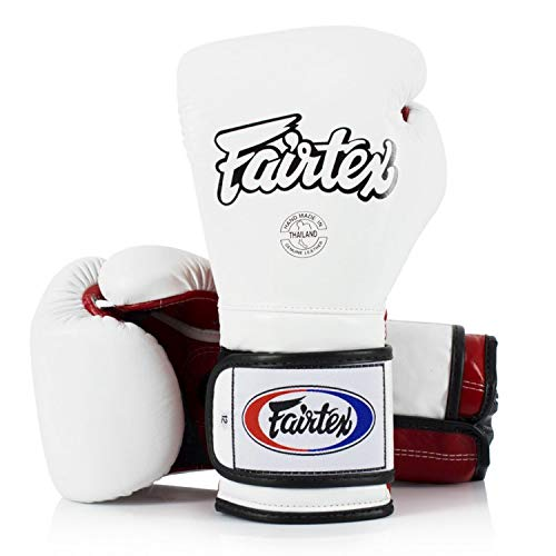 Fairtex Muay Thai BGV9 - Guantes de boxeo (12 onzas), color blanco...