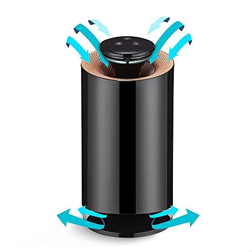 Purificateur d'air anti moustique au charbon actif – Purificateur d'air maison multifonction anti acarien filtre fumée cigarette, anti moustique, absorbeur d'humidité, absorbeur d'odeur (Noir)