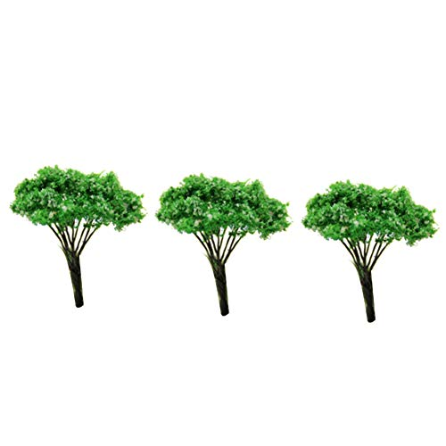 Runfon Mini Paysage Paysage Architecture Arbres modèle Arbres Jardin Féérique Miniature Arbre Plante DIY Craft Jardin Ornement Simulation Arbre 3 pcs (Blanc Dot Tree)