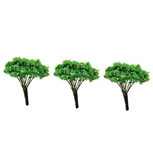 Runfon Mini Paysage Paysage Architecture Arbres modèle Arbres Jardin Féérique Miniature Arbre Plante DIY Craft Jardin Ornement Simulation Arbre 3 pcs (Blanc Dot Tree)