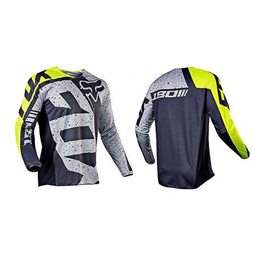 HFJLL Mountain Bike Motocross Jersey Camiseta de Manga Larga - Traje de Descenso al Aire Libre a Prueba de Viento,No.20,L