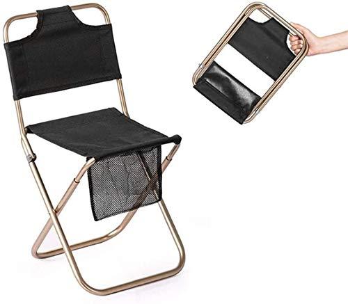Extérieur portable Chaise pliante Tabouret Siège en alliage d'aluminium respirant durable doux port confortable résistant for le jardin Balcon Camping Park