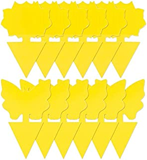 Weforu Sticky Fly Traps, 20 Pack Dual-Sided Yellow Sticky Traps for Flying Plant Insect Fungus Gnats, Flying Aphid, Whitef...