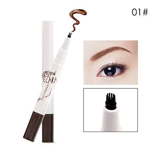 Stylo amélioré de sourcil de tatouage, brosse durable durable de sourcil élastique de stylo de gel imperméable durable pour le maquillage d'oeil (Color : 01 Milk Tea Color)