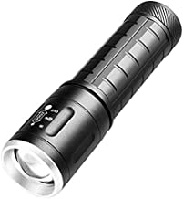 ZAIHW Portable Torch LED Zoomable Flashlight Pocket-Sized Light Super Bright Adjustable Focus Hand Lights for Camping, Hik...