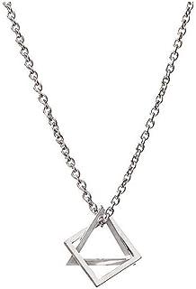 جوي يد مثلث مربع المجسم قلادة عنق التيتانيوم الصلب الهيب هوب شخصية قلادة للنساء الرجال المجوهرات