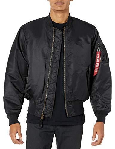 Alpha Industries, giacca bomber da uomo in stile aviatore MA-1 Black XXXXX-Large
