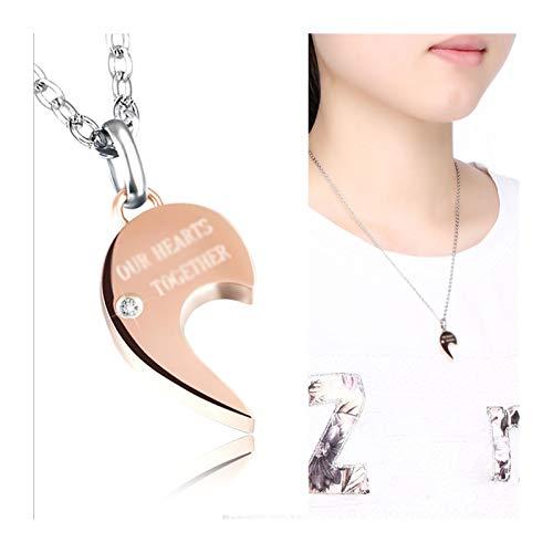 LTCTL Collar Collar de la Pareja del Amor de la Costura, Collar Colgante con Colgante de Letras, Regalo de cumpleaños/día de San Valentín/día de la Madre Regalo Collar (Color : Women's Necklaces)