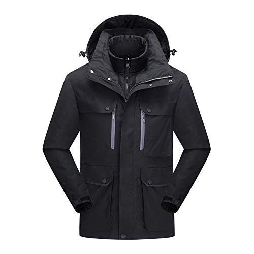 Ensemble de deux vestes pour couple britanniques, tailles M à 6XL, coupe-vent, multi-poches, veste d'hiver avec sweat à capuche, pour homme, A, XXXL