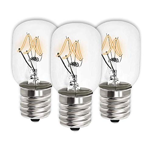 AMI PARTS 8206232A Light Bulb for Microwave 40w 125v Replacement Part for 1890433 PS2376034 AP4512653 (3pcs)