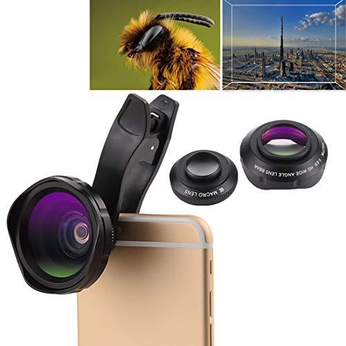 Moonbaby Good HK-007 2 in 1 universele 12X Macro Lens + 0.6X HD groothoeklens kit met clip, voor iPhone, Samsung, Huawei, Xiaomi, HTC en andere smartphones, ultradunne digitale camera