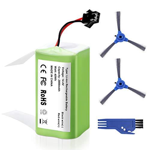 FirstPower 14.4V 2800mAh Batería de Repuesto de Iones de Litio Compatible con Conga Excellence 990, 950, 1090 Y Eufy RoboVac 11, 11S, 30, 35C,includo 3*Cepillo
