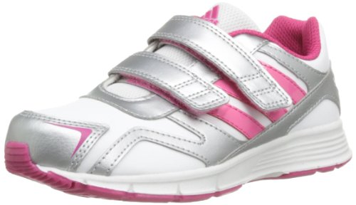adidas Cleaser Cf K, Baskets mode fille - Blanc (White/Ray Pink/Silver), 35 EU