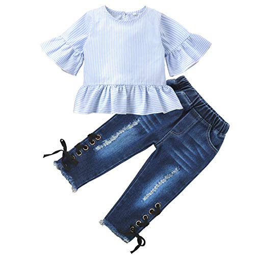 Toddler Baby Girl Clothes Outfits Fashion Newborn Shirt Tops Jeans Pants Set Summer Fall