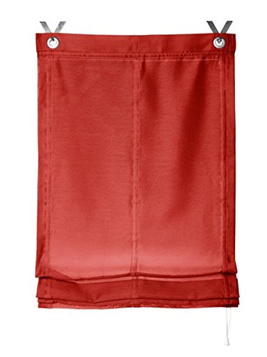 Gardinenbox.eu Raffrollo, Farbe rot, 1 Stück, Heine Home, Größe: ca. HxB: 140x45 cm, Einfache Montage mit Hakenaufhängung und Ösen, Lieferung inklusive Zubehör