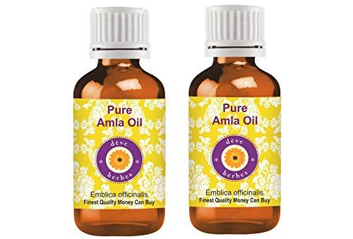 Deve Herbes Pure Amla Olie (Emblica officinalis) 100% Natuurlijke Therapeutische Graad Pack of Two 2 x 100 ml