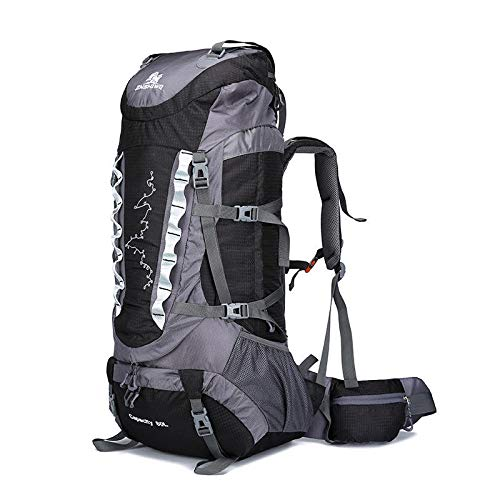 Simmia Sport Trekking Hiking Camping Climbing Mountaineering bag outdoor bag 90L large capacity travel bag waterproof luggage backpack rucksack camping tent bag treasure blue Travel Backpack