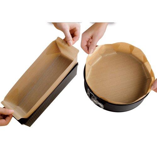 WENKO 2126100500 Antihaft-Backform-Zuschnitt rund - wiederverwendbar, spülmaschinengeeignet, Kunststoff, 41 x 0.1 x 39 cm, Braun